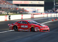 Sep 2, 2017; Clermont, IN, USA; NHRA pro stock driver Erica Enders-Stevens during qualifying for the US Nationals at Lucas Oil Raceway. Mandatory Credit: Mark J. Rebilas-USA TODAY Sports