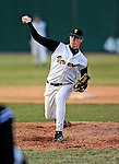 15 April 2008: University of Vermont Catamounts' pitcher Nate Matusick, a Junior from Corning, NY, on the mound against the Dartmouth College Big Green at Historic Centennial Field in Burlington, Vermont. The Catamounts rallied from a 7-3 deficit going into the bottom of the ninth, to tie and then win in the tenth: 8-7 over Dartmouth in a non-conference NCAA game...Mandatory Photo Credit: Ed Wolfstein Photo