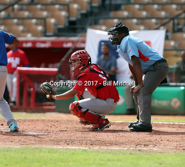 Fernando Villalobos participates in the MLB International Showcase at Estadio Quisqeya on February 22-23, 2017 in Santo Domingo, Dominican Republic.