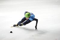 SCHAATSEN: DORDRECHT: Sportboulevard, Korean Air ISU World Cup Finale, 10-02-2012, J.R. Celski USA (82), ©foto: Martin de Jong