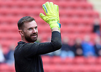 Blackpool's Mark Howard during the pre-match warm-up <br /> <br /> Photographer David Shipman/CameraSport<br /> <br /> The EFL Sky Bet League One - Charlton Athletic v Blackpool - Saturday 16th February 2019 - The Valley - London<br /> <br /> World Copyright © 2019 CameraSport. All rights reserved. 43 Linden Ave. Countesthorpe. Leicester. England. LE8 5PG - Tel: +44 (0) 116 277 4147 - admin@camerasport.com - www.camerasport.com
