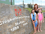 Kelly Coogan, Kate Conaghan and Rachel Callaghan pictured at the Clogherhead Lifeboat station open day. Photo: Colin Bell/pressphotos.ie
