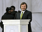 "Washington, DC - January 18, 2009 -- Jack Black reads a historical passage at the ""Today: We are One - The Obama Inaugural Celebration at the Lincoln Memorial"" in Washington, D.C. on Sunday, January 18, 2009..Credit: Ron Sachs / CNP.(RESTRICTION: NO New York or New Jersey Newspapers or newspapers within a 75 mile radius of New York City)"