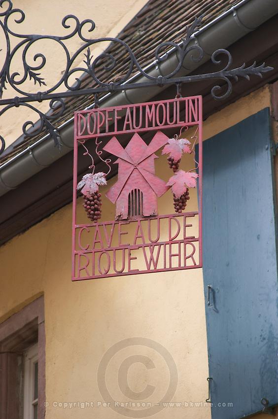 wrought iron sign dopff au moulin riquewihr alsace france