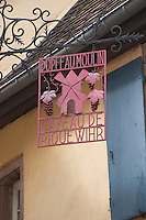 wrought iron sign dopff au moulin riquewihr alsace france