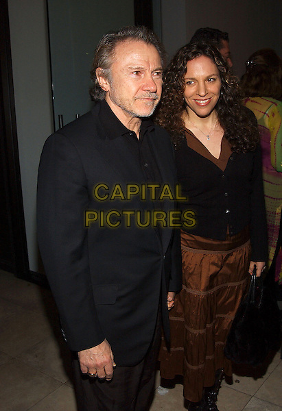 HARVEY KEITEL & DAPHNA KASTNER.Robert Graham's Collective Art Work Celebration held at ACE Gallery. Beverly Hills, California.February 23rd, 2005.half length married husband wife.www.capitalpictures.com.sales@capitalpictures.com.© Capital Pictures.