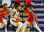 Stony Brook defeats UAlbany  69-60 in the America East Conference tournament quaterfinals at the  SEFCU Arena, Mar. 3, 2018.  Costa Anderson (#1).