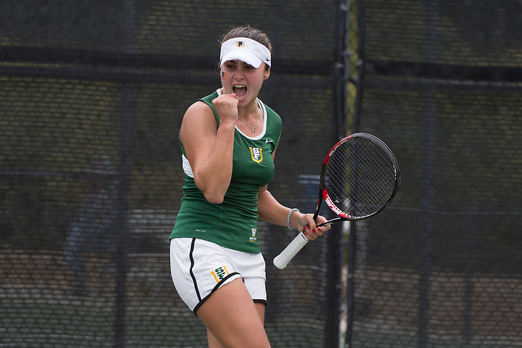 April 23, 2015; San Diego, CA, USA; San Francisco Dons tennis player Marina Nikolic during the WCC Tennis Championships at Barnes Tennis Center.