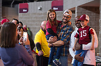 Hawgs Illustrated/BEN GOFF <br /> Fans meet coach Mike Anderson Friday, Oct. 19, 2018, before the Arkansas Red and White scrimmage at Bud Walton Arena in Fayetteville.