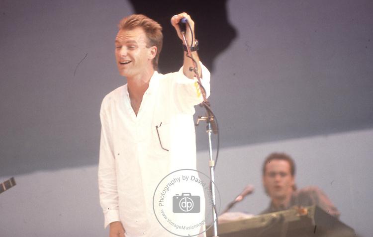Live Aid 1985 Wembley Stadium, London , England. Sting
