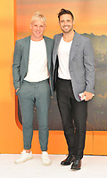 """LONDON, ENGLAND - JULY 30: Jamie Laing and Spencer Matthews at the """"Once Upon A Time In ... Hollywood"""" UK film premiere, Odeon Luxe Leicester Square, Leicester Square, on Tuesday 30 July 2019 in London, England, UK.<br /> CAP/CAN<br /> ©CAN/Capital Pictures"""
