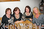 Ann Donnelly, Blennerville (seated 2nd lt) celebrated her 50th birthday last Saturday night in Bella Bia, Tralee l-r: Maureen Guerin, Ann Donnelly, Eilish Callaghan with Liz Keane.