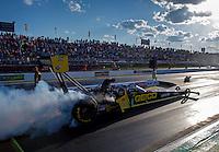May 16, 2014; Commerce, GA, USA; NHRA top fuel dragster driver Richie Crampton during qualifying for the Southern Nationals at Atlanta Dragway. Mandatory Credit: Mark J. Rebilas-USA TODAY Sports