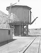 D&amp;RGW 50,000 gallon water tank at Monero, New Mexico.<br /> D&amp;RGW  Monero, NM  Taken by Rogers, Donald E. A. - 5/26/1939