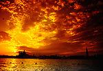 Sonnenuntergang in Venedig, Santa Maria della Salute, Markusplatz