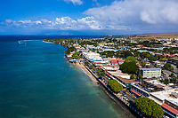 An aerial view of Lahaina Harbor, Maui.