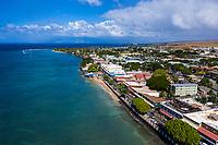 An aerial view of Lahaina Harbor, Maui.