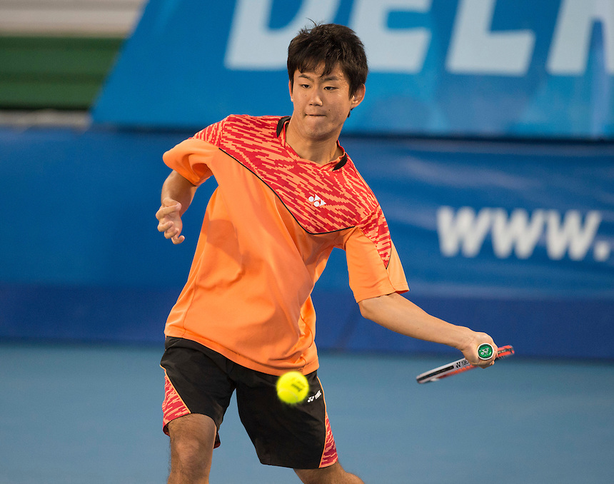 Delray Beach, FL - February 19: Yoshito Nishioka(JPN) defeats Marinko Matosevic(AUS) 61 63 at the 2015 Delray Beach Open by The Venetian Las Vegas. Photographer Andrew Patron<br /> <br /> Tennis - 2015 ATP World Tour 250 - The Delray Beach Open by The Venetian Las Vegas - Delray Beach, U.S.A - Day 4 - Thursday 19 February 2015<br /> <br /> &copy; CameraSport - 43 Linden Ave. Countesthorpe. Leicester. England. LE8 5PG - Tel: +44 (0) 116 277 4147 - admin@camerasport.com - www.camerasport.com