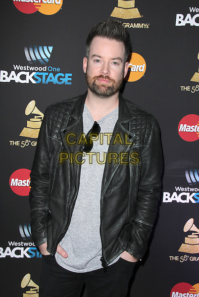 LOS ANGELES, CA - FEBRUARY 12: David Cook at the 2016 Grammys Radio Row Day 1 presented by Westwood One, Staples Center, Los Angeles, California on February 12, 2016.   <br /> CAP/MPI/DE<br /> &copy;DE//MPI/Capital Pictures