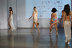 Models walk runway in outfits from the Coketta Beachwear  collection by Barbara Price on April 12, 2019; during Fashion Week Brooklyn Fall Winter 2019.