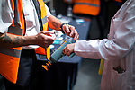 © Joel Goodman - 07973 332324. 30/07/2017 . Manchester , UK . Visitors have their hands stamped for re-entry as they leave the venue . Cosplayers, families and guests at Comic Con at the Manchester Central Convention Centre . Photo credit : Joel Goodman