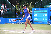 June 16th 2017, Nottingham, England; WTA Aegon Nottingham Open Tennis Tournament day 5;  Donna Vekic of Croatia celebrates her quarter final victory over Maria Sakkari of Greece