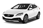 2017 Volvo V40-Cross-Country - 5 Door Wagon Angular Front stock photos of front three quarter view