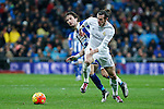 Real Madrid´s Gareth Bale and Deportivo de la Coruna´s Navarro during 2015/16 La Liga match between Real Madrid and Deportivo de la Coruna at Santiago Bernabeu stadium in Madrid, Spain. January 09, 2015. (ALTERPHOTOS/Victor Blanco)