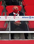 23.05.2020, Allianz Arena, nph00250, , München, GER, 1.FBL, FC Bayern München vs Eintracht Frankfurt 23.05.2020 , <br /><br />Nur für journalistische Zwecke!<br /><br />Gemäß den Vorgaben der DFL Deutsche Fußball Liga ist es untersagt, in dem Stadion und/oder vom Spiel angefertigte Fotoaufnahmen in Form von Sequenzbildern und/oder videoähnlichen Fotostrecken zu verwerten bzw. verwerten zu lassen. <br /><br />Only for editorial use! <br /><br />DFL regulations prohibit any use of photographs as image sequences and/or quasi-video..<br />im Bild<br />Ehrentribuene Uli HOENESS (former FCB President ) <br />    <br /> Foto: Peter Schatz/Pool/Bratic/nordphoto