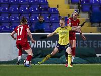 13th February 2020; Deva Stadium, Chester, Cheshire, England; Womens Super League Football, Liverpool Womens versus Arsenal Womens; Charles of Liverpool wins the ball