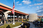 NEW HAVEN, CT. 06 December 2018-120618 - Veteran Affairs Commissioner Thomas Saadi addresses those gathered during the dedication ceremonies of the Pearl Harbor Memorial Park located below the Pearl Harbor Memorial Bridge in New Haven on Thursday. Bill Shettle Republican-American