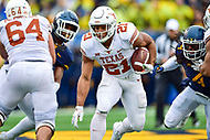 Morgantown, WV - NOV 18, 2017: Texas Longhorns running back Kyle Porter (21) runs the football during game between West Virginia and Texas at Mountaineer Field at Milan Puskar Stadium Morgantown, West Virginia. (Photo by Phil Peters/Media Images International)