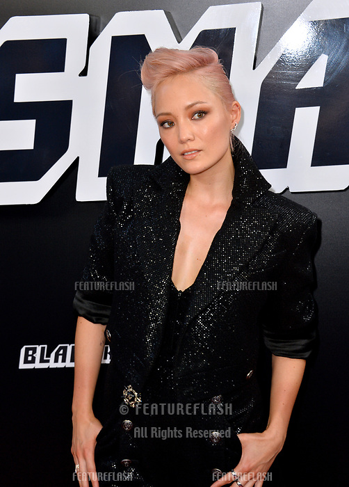"Pom Klementieff at the Los Angeles premiere of ""BlacKkKlansman"" at the Academy's Samuel Goldwyn Theatre, Beverly Hills, USA 08 Aug. 2018<br /> Picture: Paul Smith/Featureflash/SilverHub 0208 004 5359 sales@silverhubmedia.com"