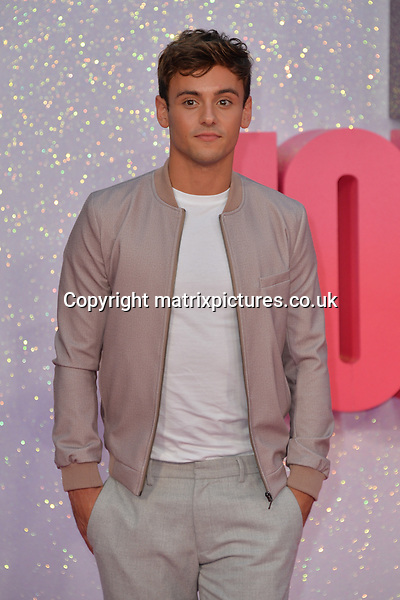 NON EXCLUSIVE PICTURE: MATRIXPICTURES.CO.UK<br /> PLEASE CREDIT ALL USES<br /> <br /> WORLD RIGHTS<br /> <br /> English diver Tom Daley attends the world premiere of &quot;Bridget Jones's Baby&quot; at Leicester Square in London.<br /> <br /> SEPTEMBER 5th 2016<br /> <br /> REF: JWN 162864
