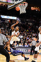 Wednesday, January 4, 2016: Providence Friars forward Rodney Bullock (5) watches the flight of the ball as he plows into Georgetown Hoyas guard Jagan Mosely (4) during the NCAA basketball game between the Georgetown Hoyas and the Providence Friars held at the Dunkin Donuts Center, in Providence, Rhode Island. Providence defeats Georgetown 76-70 in regulation time. Eric Canha/CSM