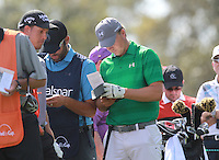 Jordan Spieth(USA) during round 1 of the Valspar Championship, at the  Innisbrook Resort, Palm Harbor,  Florida, USA. 10/03/2016.<br /> Picture: Golffile | Mark Davison<br /> <br /> <br /> All photo usage must carry mandatory copyright credit (&copy; Golffile | Mark Davison)