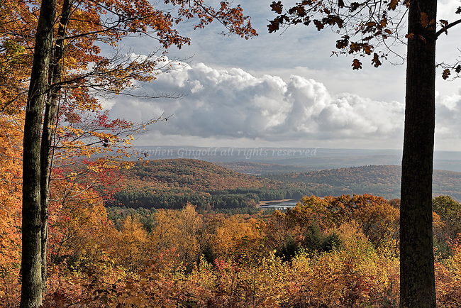 Some dramatic clouds seen over the North Quabbin in central Massachusetts during a very colorful sunny autumn day.