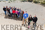 ITT students are planting maram grass as part of coastal IT wildlife biology project (regeneration of sand dunes) in Ballyheigue on Thursday. Pictured l-r Aidan Gray (An Taisce's Clean Coast Officer),Clodagh Fitzgerald (Killorglin Community College) and Kieran McKenna (student IT Tralee) with a Clean coast group from Killorglin Community College. Marram grass planting project at Ballyheigue beach 4th year project from the wildlife biology course in the Tralee IT led by Kieran McKenna.Project supported by An Taisce's clean coast programme.Clean coast group from Killorglin Community Collegealso supported by Kerry County Council who supplied all the infrastructure