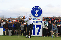 Henric Sturehed (SWE) on the 17th tee during Round 4 of the Open de Espana 2018 at Centro Nacional de Golf on Sunday 15th April 2018.<br /> Picture:  Thos Caffrey / www.golffile.ie<br /> <br /> All photo usage must carry mandatory copyright credit (&copy; Golffile | Thos Caffrey)
