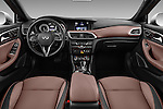 Stock photo of straight dashboard view of 2017 Infiniti QX0 Premium-Tech-4wd 5 Door Suv Dashboard