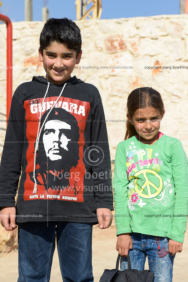 LEBANON Deir el Ahmad, a maronite christian village in Beqaa valley, school for syrian refugee children / LIBANON Deir el Ahmad, ein christlich maronitisches Dorf in der Bekaa Ebene, Schule der Good Shepherds Sisters der maronitischen Kirche fuer syrische Fluechtlingskinder