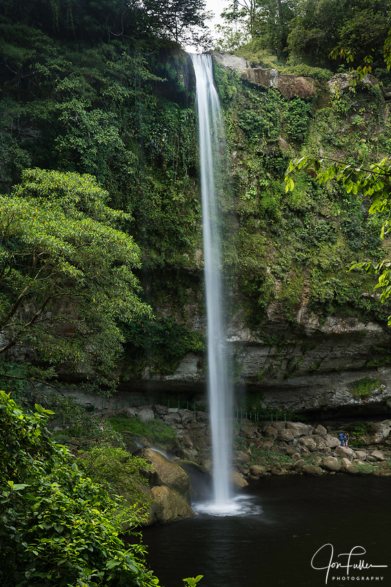 The Misol-Ha Waterfall in the highlands of Chiapas, Mexico falls 35 meters or 115 feet into a pool below.