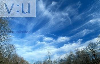Cirrus clouds, uncinus or mares tails