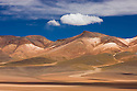 Bolivia, Altiplano, colorful, mineral-rich mountains north of Laguna Colorada