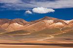Bolivia, Altiplano, colorful, mineral-rich mountains north of Laguna Colorada