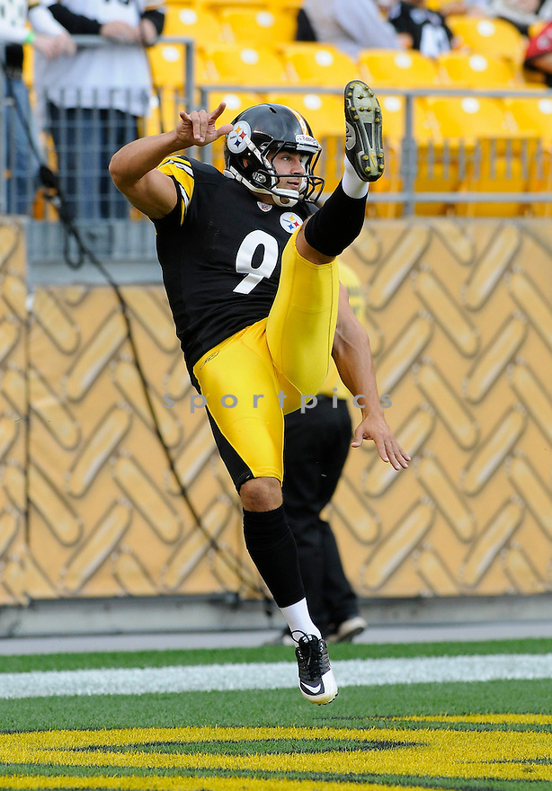 DANIEL SEPULVEDA, of the Pittsburgh Steelers, in action during the Steelers game against the Atlanta Falcons on September 12, 2010 in Pittsburgh, Pennsylvania...Steelers won the game 15-9..