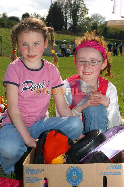 Kate Murray and Sharon Dunne at the Sale in St Marys Gaa Grounds in Donore..Picture Fran Caffrey Newsfile