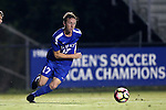 27 September 2016: Duke's Bryson Asher. The Duke University Blue Devils hosted the Georgia State University Panthers at Koskinen Stadium in Durham, North Carolina in a 2016 NCAA Division I Men's Soccer match. Georgia State won the game 2-1 in two overtimes.