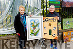 Mary Cotter (Tralee) and Kitty O'Sullivan (Knockmoyle Tralee) displaying their Art in the Park at the Féile na mBláth on Saturday