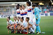 28th March 2018, Mini Estad, Barcelona, Spain; Womens Champions League football, quarter final, 2nd leg, Barcelona Women versus Lyon Women; Lyon team photo before the start the game